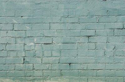 Fototapeta grunge tle ceglanego muru z niebieskim kolorze