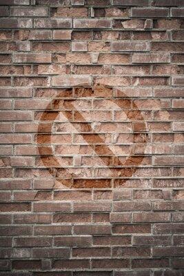 Fototapeta Grungy mur miejski z zakazanego znaku