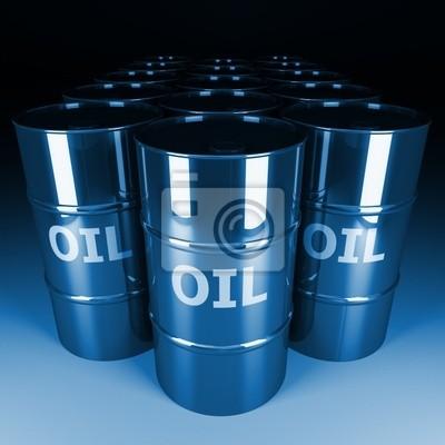 grzywny 3d obraz beczki oleju chrom