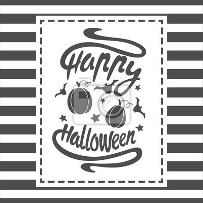 Happy Halloween Wiadomość Wzór Tła Ilustracji Wektorowych Ta