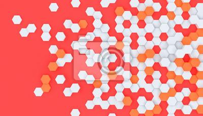 hexagon shapes modern background
