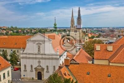 Fototapeta Historic górne miasto Zagrzeb