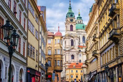 Fototapeta Historyczne budowle barokowe w centrum Pragi, Czech Rze