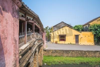 Fototapeta Hoi An - Wietnam 16 marca: Japoński Covered Bridge piękna architektura w Hoi An starożytnego miasta na 16 marca 2015 Wietnam