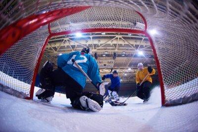 Fototapeta hokej na lodzie bramkarz