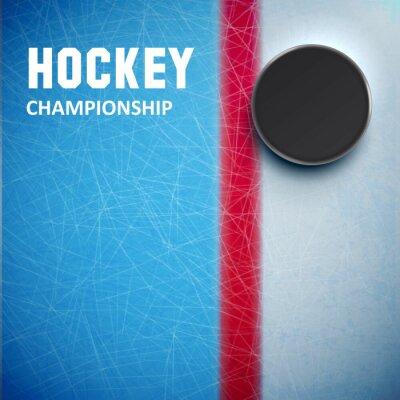 Fototapeta Hokej na lodzie krążek izolowanych widok z góry