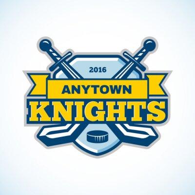 Fototapeta Hokej na lodzie rycerze logo zespołu.