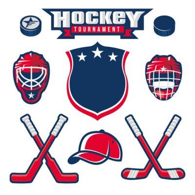 Fototapeta Hokej na logo, godło, etykiety, projektowanie elementów odznaka