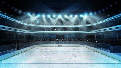 Fototapeta hokej na stadion z widzów i pusta lodowisko