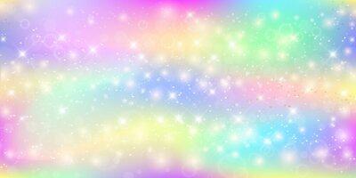 Fototapeta Holograficzne magiczne tło z bajki błyszczy, gwiazdy i zaciera.