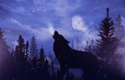 Fototapeta Howling Wolfa w Wilderness