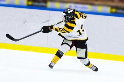 Fototapeta Ice hockey player - Slap strzału