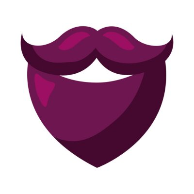 Fototapeta hipster beard accessory icon