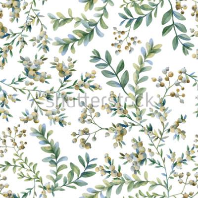 Fototapeta Ilustracja botaniczna. Druk botaniczny. Bezszwowy wzór.