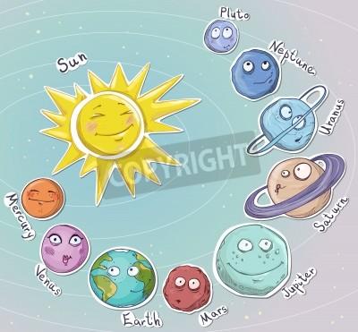 Fototapeta Ilustracja Cartoon Planet Solar System Vector
