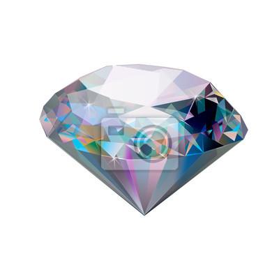 310689dadf5841 Fototapeta Ilustracja kamień. Diament odizolowywający na białym tle. Klejnot