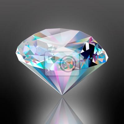 22ff4e3f711d6a Fototapeta Ilustracja kamień. Diament odizolowywający na tle. Klejnot