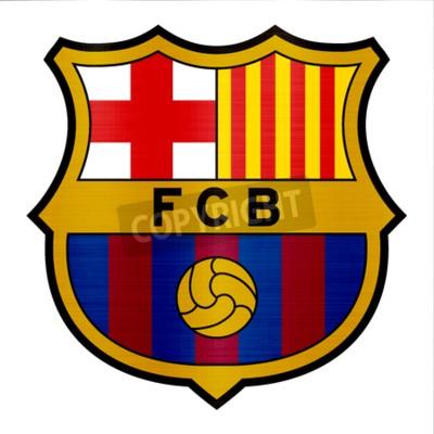 Fototapeta ilustracja metalicznej logo barcelona