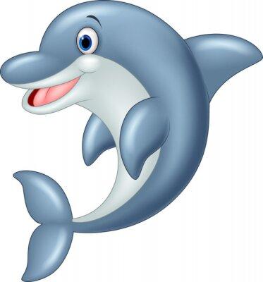 Fototapeta Ilustracja Stały Dolphin Wektor