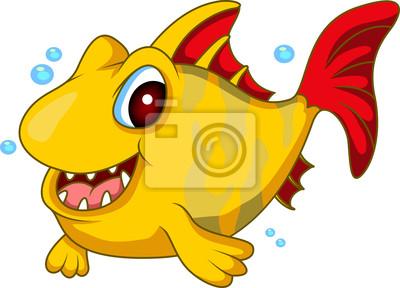 Fototapeta Ilustracja wektorowa Cartoon ryb