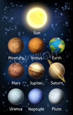 Fototapeta Ilustracja z planet układu słonecznego