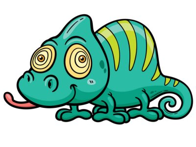 Fototapeta Ilustracji wektorowych Cartoon Chameleon