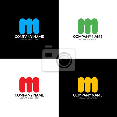 Ilustracji Wektorowych Litera M Logo Ikona Płaski I Wektor