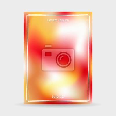 af7b5dcfb3642d Fototapeta ilustracji wektorowych. Płynne kolory tła, plakat z ramą,  czerwony, biały,