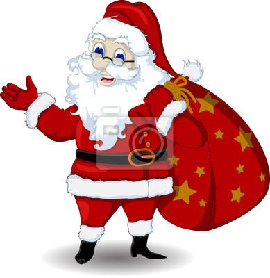 Fototapeta ilustracji wektorowych z Santa Claus cartoon podczas projektowania