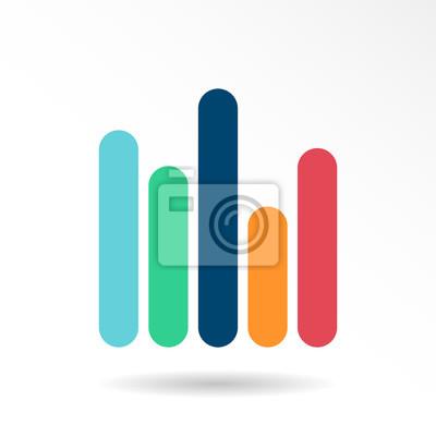 Fototapeta Infografika wektorowe ikony. Biznes godło szablon, wykresy, wykres