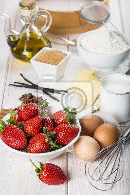 Ingredientes frescos en la cocina de casa para cocinar una for Ingredientes para cocinar
