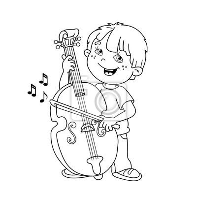 Instrumenty Muzyczne Ksiazka Kolorowanka Dla Dzieci Fototapeta