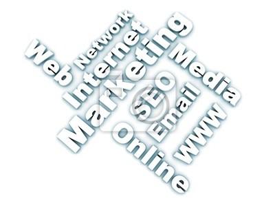 Fototapeta Internet marketing słowa pokrewne - biały