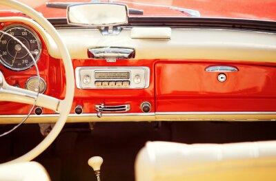 Fototapeta interno auto rocznik