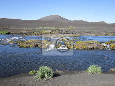 Fototapeta Islande rivière bleue