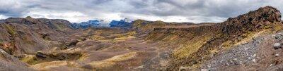 Fototapeta Islandia Landmannalaugar Trek dzikiego krajobrazu