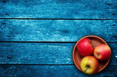 Fototapeta jabłka na stole