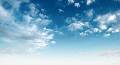 Fototapeta Jasne błękitne niebo i białe chmury