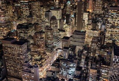Fototapeta Jasne światła miasta Nowy Jork, USA