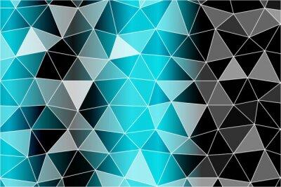 Fototapeta Jasne tło dla kart okolicznościowych. Wielobok tło czarny, niebieski kolor. Ilustracji wektorowych. Aby wdrożyć swoje pomysły na projekt, tematy biznesowe, udane prezentacje.