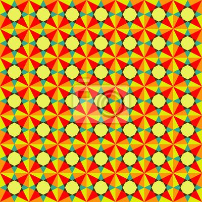 Fototapeta jasny kolorowy wzór geometryczny bez szwu