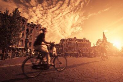 Fototapeta Jazda na rowerze w mieście