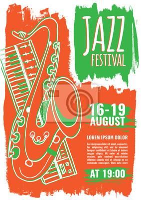 Fototapeta Jazz Szablon Plakat Muzyczny