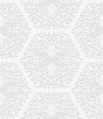 Fototapeta Jednolite kwiatowy wzór w tradycyjnym stylu