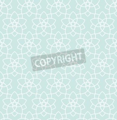 Fototapeta Jednolite tło w stylu arabskim. Złoty, czarny, niebieski tapety z wzorami dla projektu. Tradycyjny wystrój orientalny