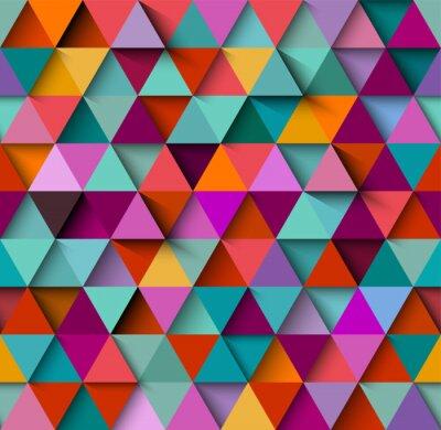 Fototapeta Jednolite tło wzór z trójkątami i cienie, wektor eps10