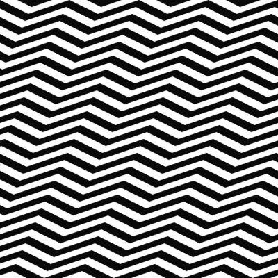 Fototapeta Jednolite wzór czarny biały Chevron
