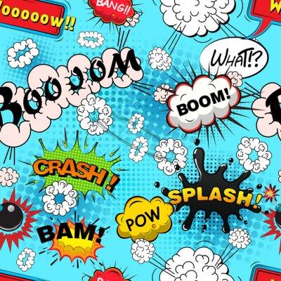 Fototapeta Jednolite wzór komiks dymki ilustracji