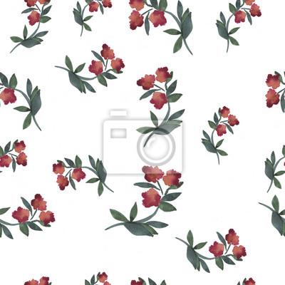 42000501552af2 Fototapeta Jednolite wzór z abstrakcyjne różowe kwiaty malowane akwarelą.  Ręcznie rysowane ilustracji.