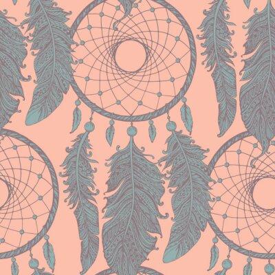 Fototapeta Jednolite wzór z ręcznie rysowane Fiksatory snu